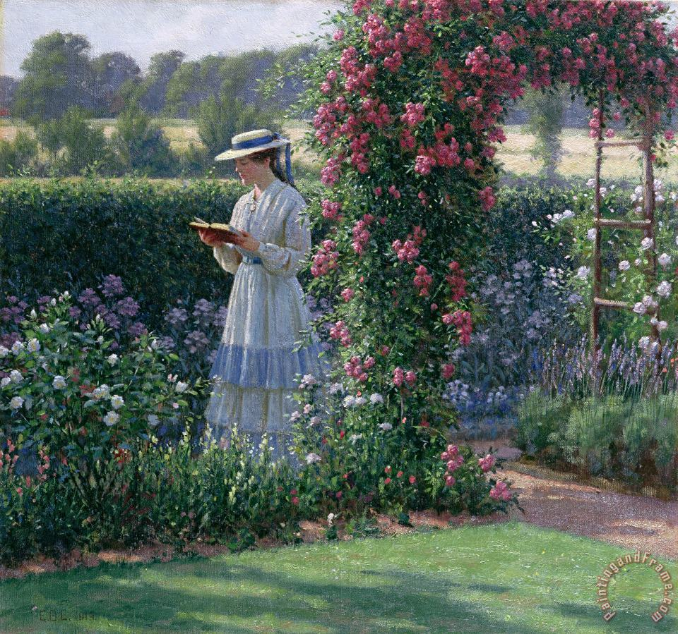 Sweet Solitude painting - Edmund Blair Leighton Sweet Solitude Art Print