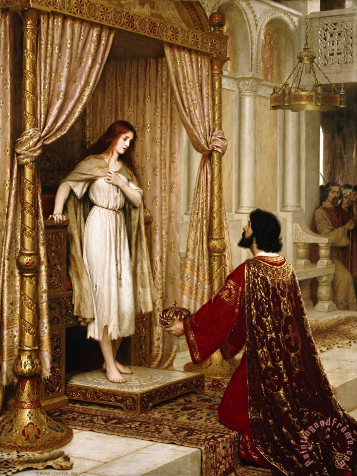 Edmund Blair Leighton The King And The Beggar Maid Art Painting