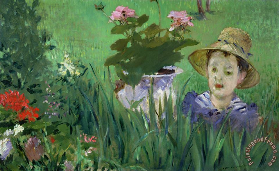 Child in the Flowers painting - Edouard Manet Child in the Flowers Art Print