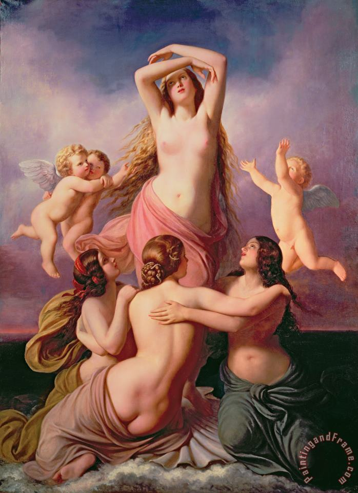 The Birth of Venus painting - Eduard Steinbruck The Birth of Venus Art Print