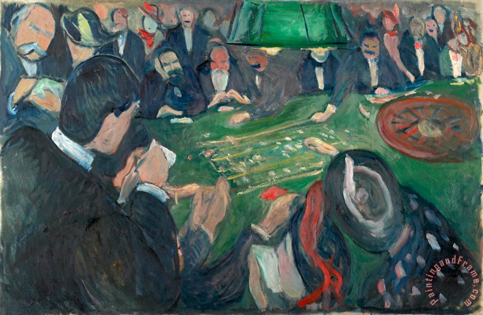 At The Roulette Table in Monte Carlo painting - Edvard Munch At The Roulette Table in Monte Carlo Art Print