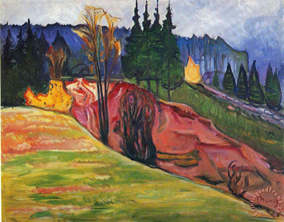From Thuringewald painting - Edvard Munch From Thuringewald Art Print