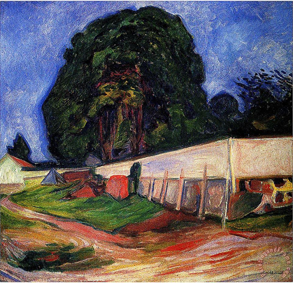 Summer Night at Asgarstrand painting - Edvard Munch Summer Night at Asgarstrand Art Print