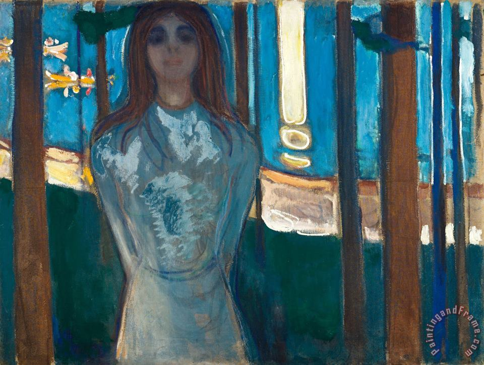 The Voice , Summer Night painting - Edvard Munch The Voice , Summer Night Art Print