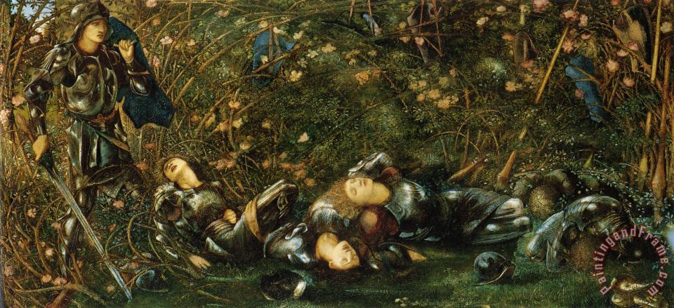 The Briar Rose I The Briar Wood painting - Edward Burne Jones The Briar Rose I The Briar Wood Art Print