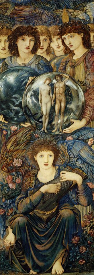 The Days of Creation The Sixth Day painting - Edward Burne Jones The Days of Creation The Sixth Day Art Print