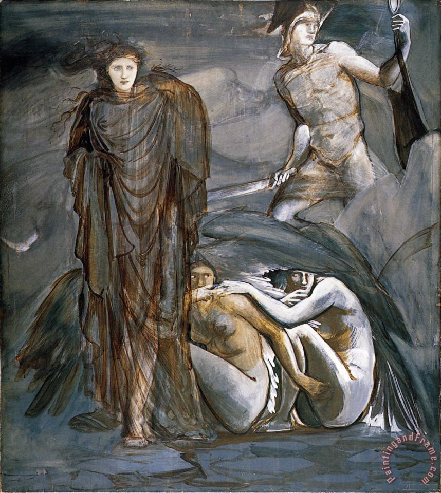 The Perseus Series The Finding of Medusa painting - Edward Burne Jones The Perseus Series The Finding of Medusa Art Print