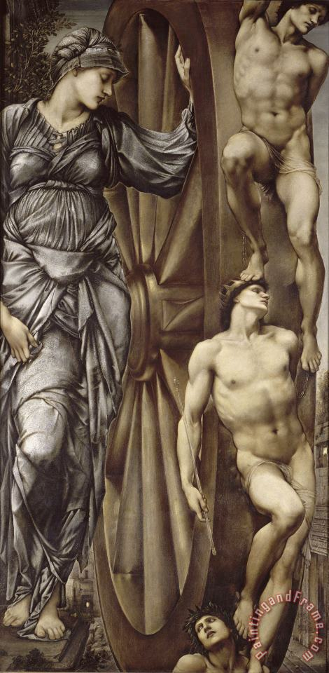 The Wheel of Fortune painting - Edward Burne Jones The Wheel of Fortune Art Print