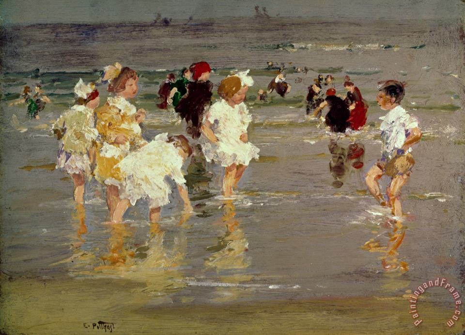 Children on the Beach painting - Edward Henry Potthast Children on the Beach Art Print