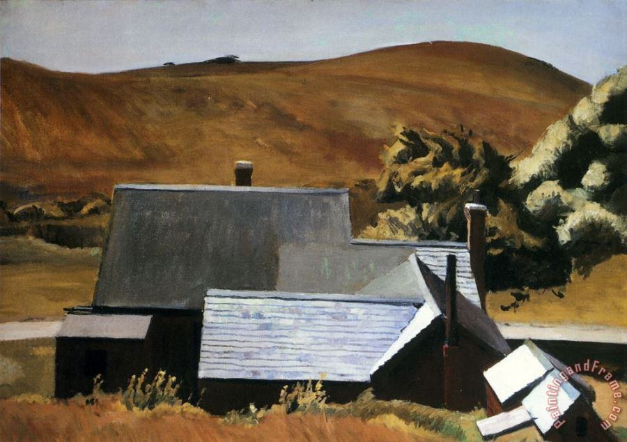 Burly Cobb S House South Truro 1933 painting - Edward Hopper Burly Cobb S House South Truro 1933 Art Print
