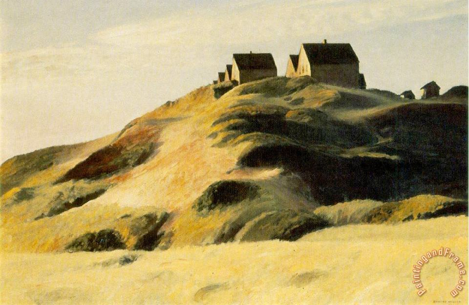 Corn Hill painting - Edward Hopper Corn Hill Art Print