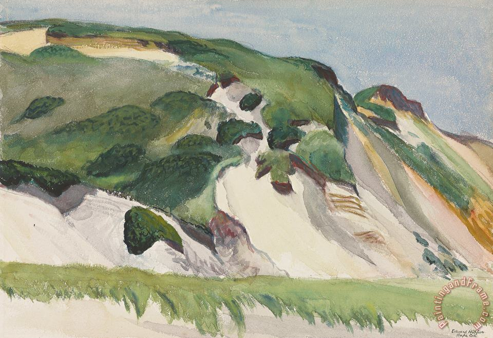 Dune At Truro painting - Edward Hopper Dune At Truro Art Print