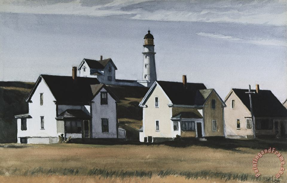 Lighthouse Hill Cape Elizabeth Maine painting - Edward Hopper Lighthouse Hill Cape Elizabeth Maine Art Print