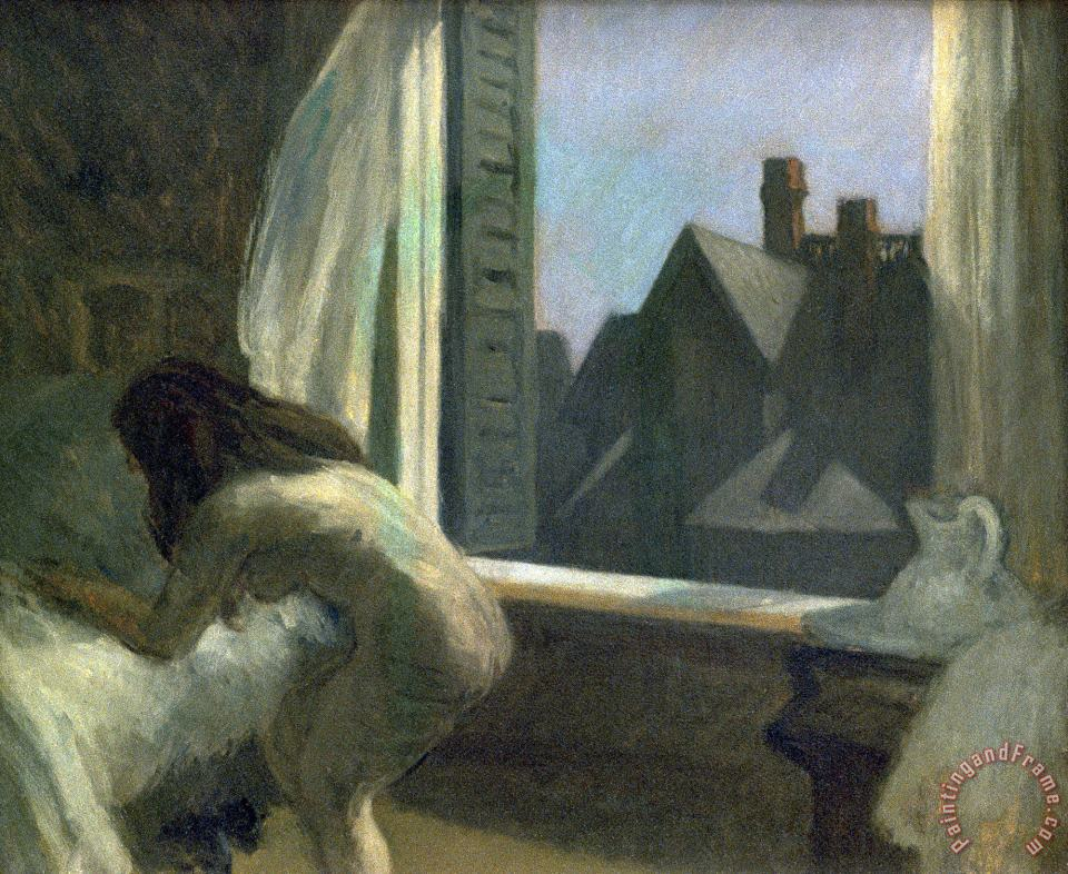 Moonlight Interior painting - Edward Hopper Moonlight Interior Art Print