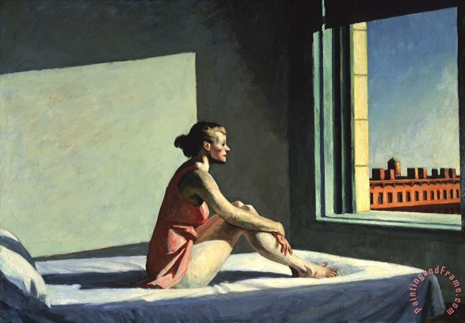 Edward Hopper Morning Sun Art Print