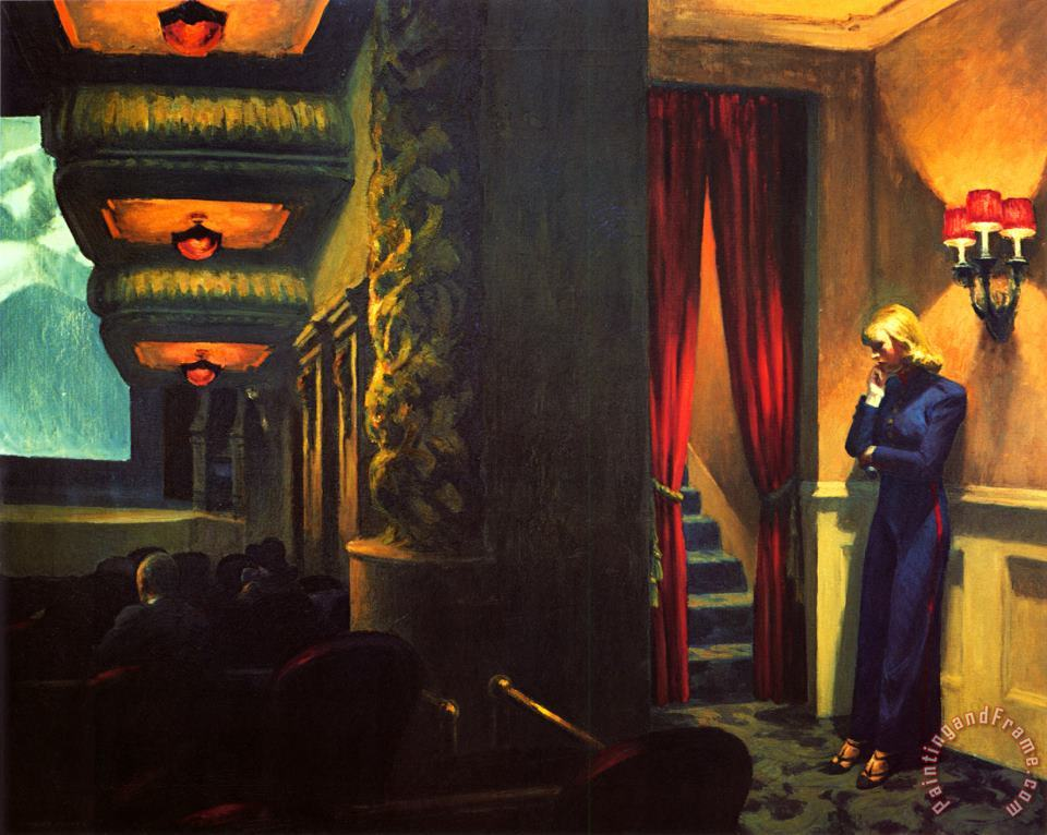 Edward Hopper New York Movie Art Print