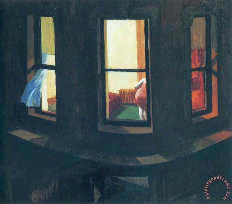 Night Windows painting - Edward Hopper Night Windows Art Print