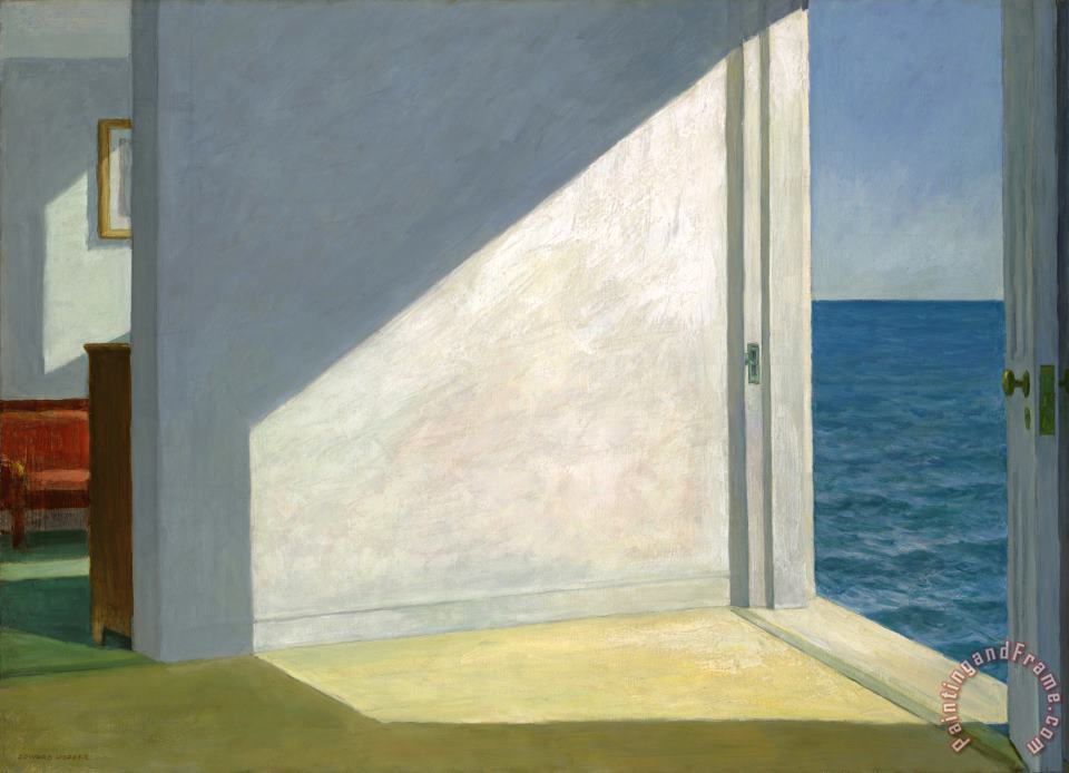Rooms by The Sea 1951 painting - Edward Hopper Rooms by The Sea 1951 Art Print