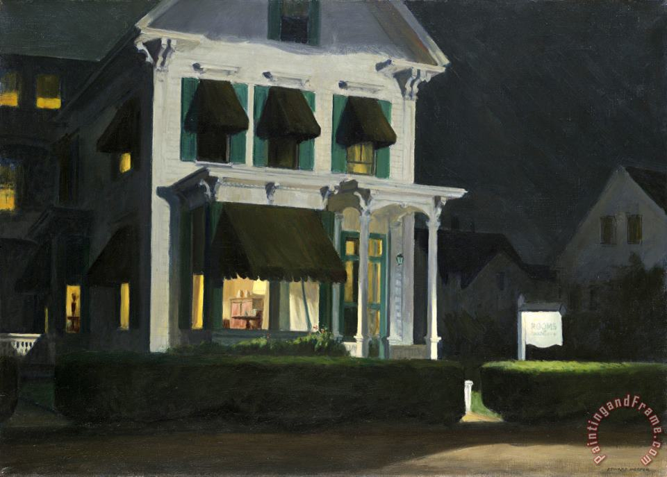 Rooms for Tourists painting - Edward Hopper Rooms for Tourists Art Print