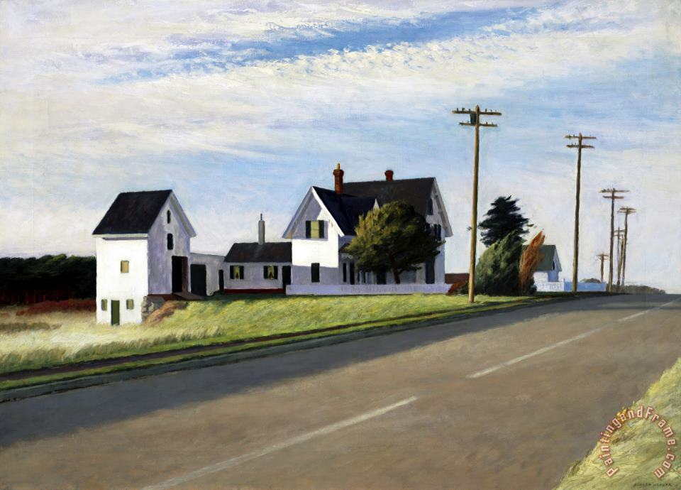 Route 6 Eastham painting - Edward Hopper Route 6 Eastham Art Print