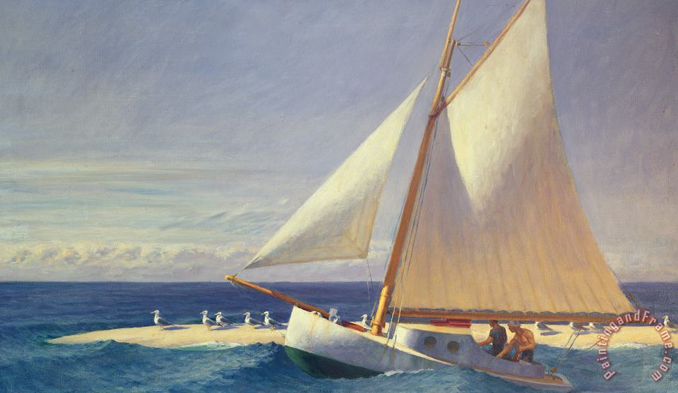 Sailing Boat painting - Edward Hopper Sailing Boat Art Print