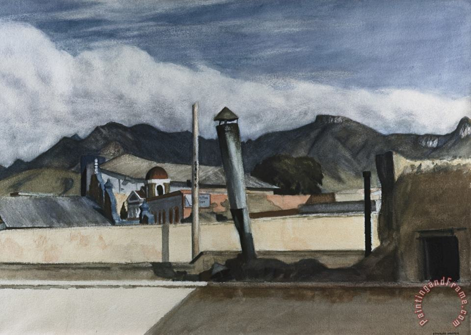 Saltillo Rooftops (mexico) painting - Edward Hopper Saltillo Rooftops (mexico) Art Print