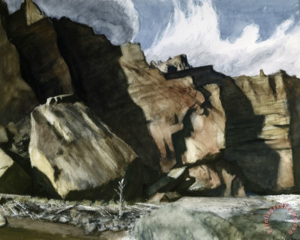 Shoshone Cliffs painting - Edward Hopper Shoshone Cliffs Art Print