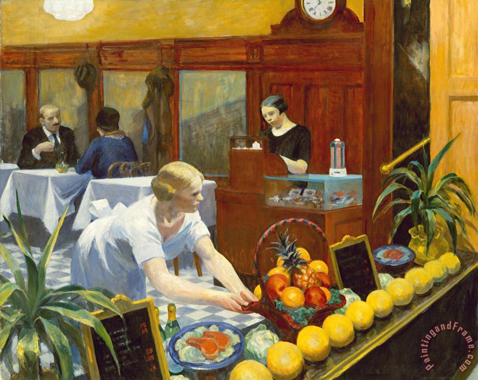 Tables for Ladies 1930 painting - Edward Hopper Tables for Ladies 1930 Art Print