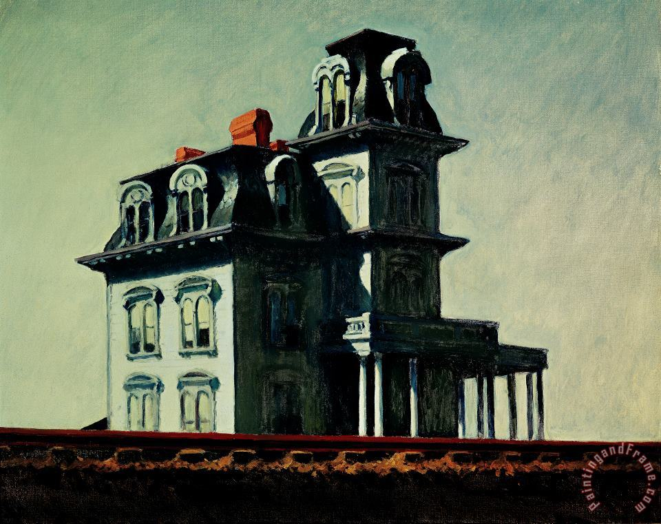 Edward Hopper The House By The Railroad Art Print
