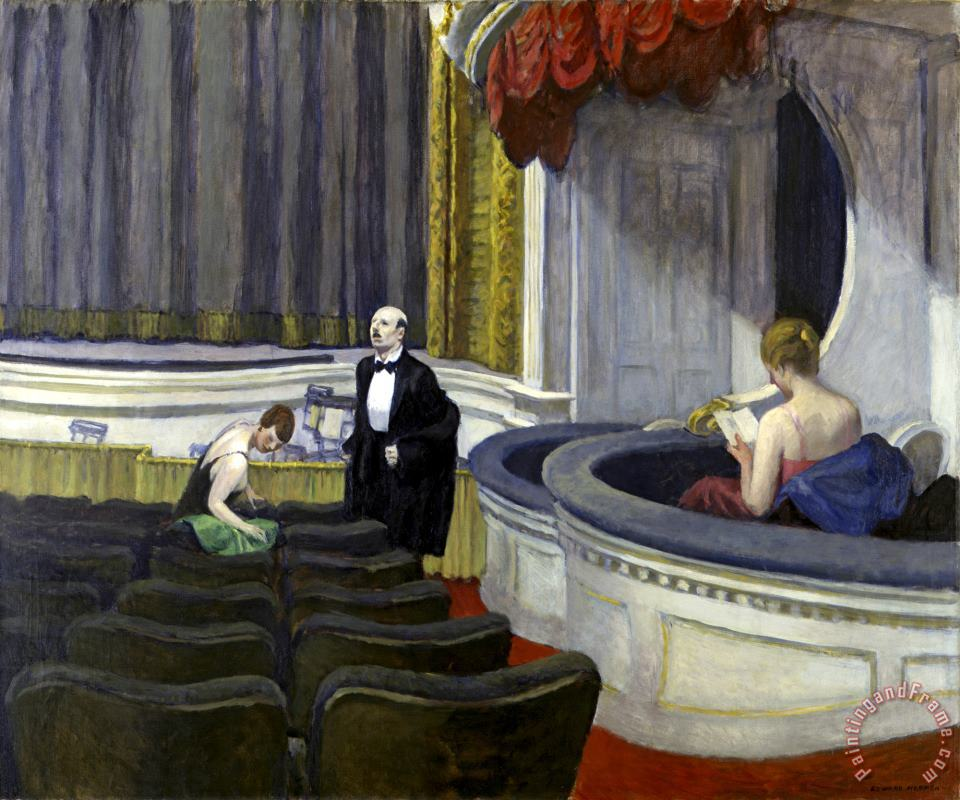 Two on The Aisle painting - Edward Hopper Two on The Aisle Art Print