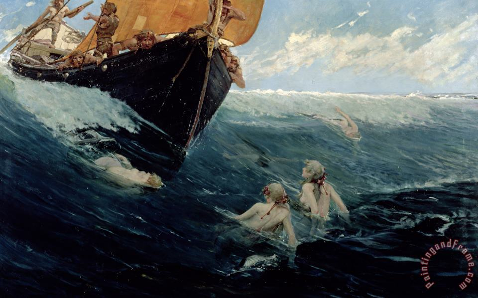 The Mermaid's Rock painting - Edward Matthew Hale The Mermaid's Rock Art Print