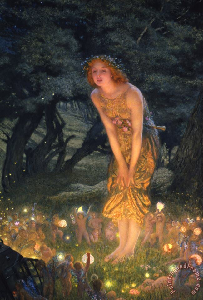 Midsummer Eve painting - Edward Robert Hughes Midsummer Eve Art Print