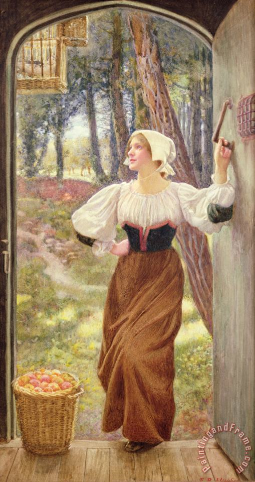 Edward Robert Hughes Tithe in Kind Art Painting