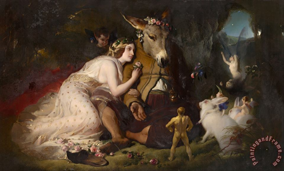 Edwin Landseer Scene From a Midsummer Night's Dream. Titania And Bottom Art Painting