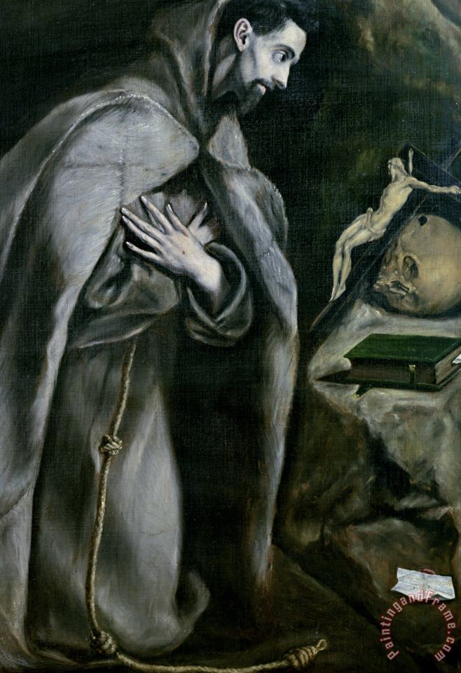 St Francis Of Assisi painting - El Greco Domenico Theotocopuli St Francis Of Assisi Art Print