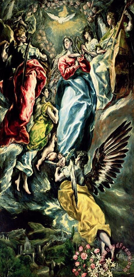 The Immaculate Conception painting - El Greco Domenico Theotocopuli The Immaculate Conception Art Print