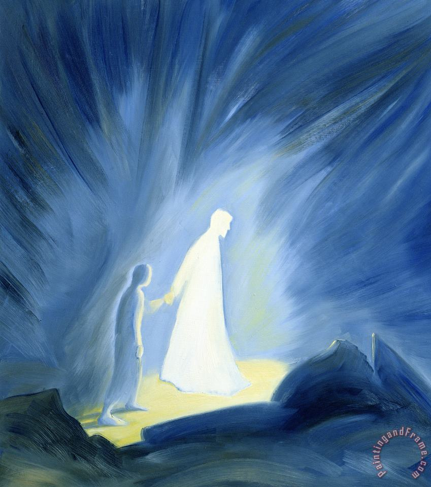 Elizabeth Wang Even in the darkness of out sufferings Jesus is close to us Art Painting