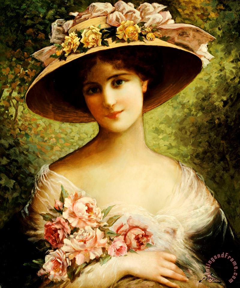 Emile Vernon The Fancy Bonnet Art Painting