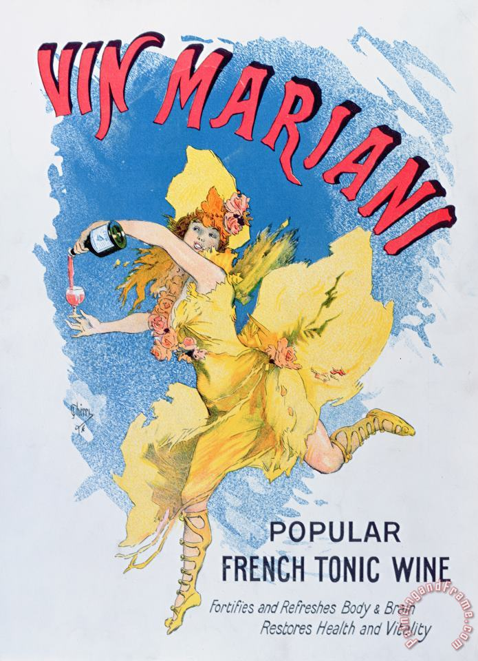 English School Advertisement For Vin Mariani From Theatre Magazine Art Print
