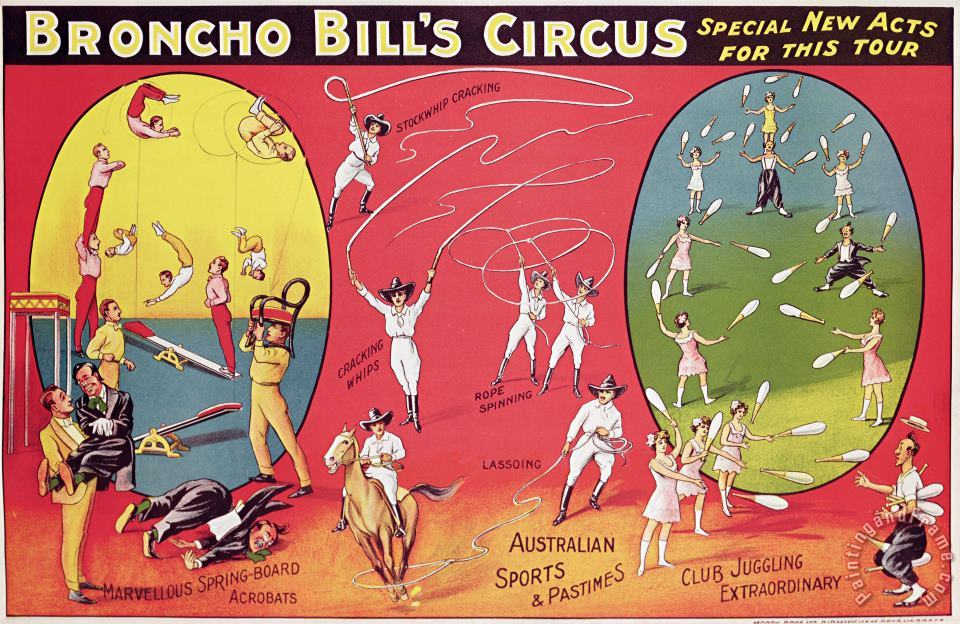 English School Bronco Bills Circus Art Print