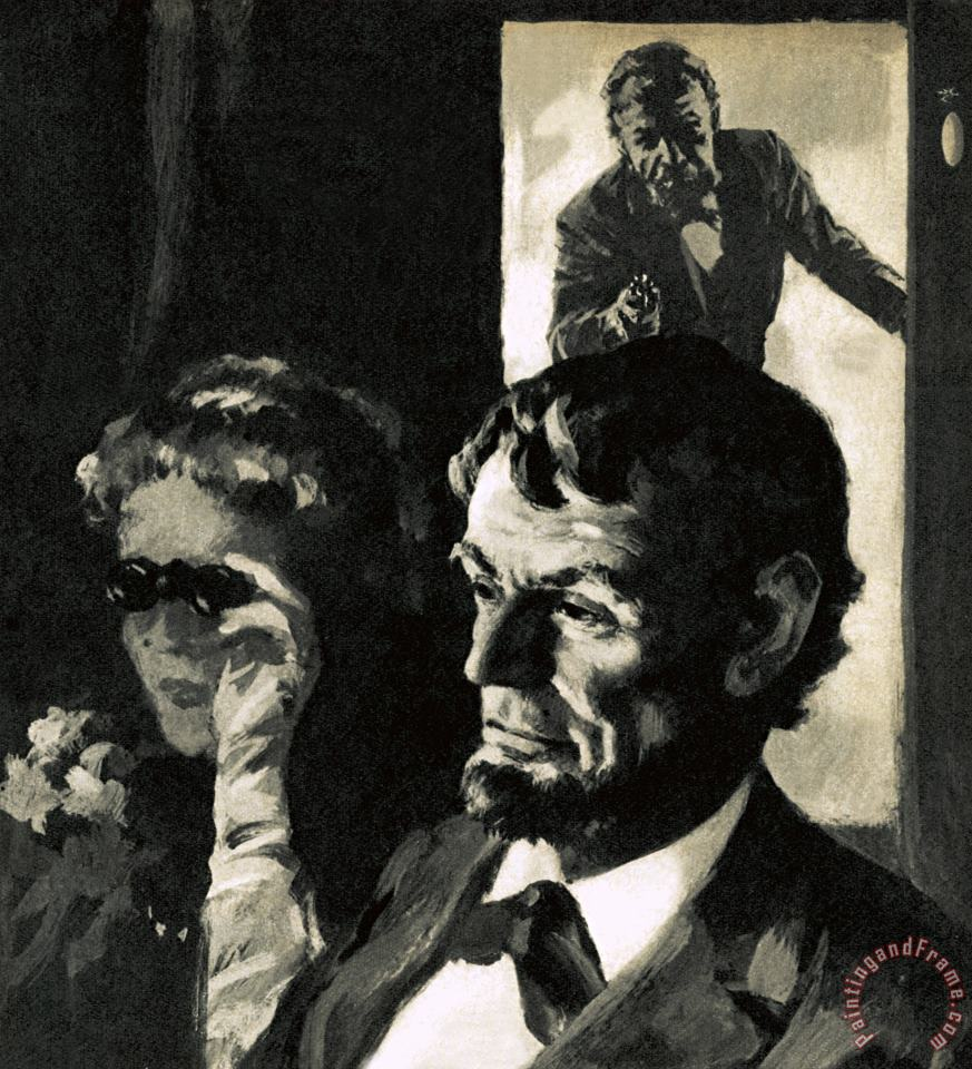 The Assassination of Abraham Lincoln painting - English School The Assassination of Abraham Lincoln Art Print