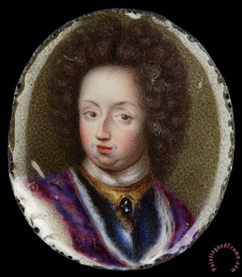 Erik Utterhielm Miniature Portrait of Charles Xi, King of Sweden 1660 1697 Art Print