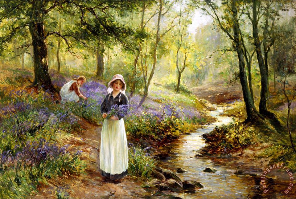 Ernest Walbourn The Bluebell Glade Art Print