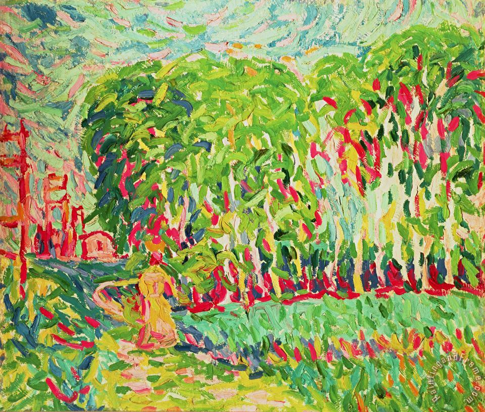 Ernst Ludwig Kirchner A Woman In A Birch Wood Art Painting