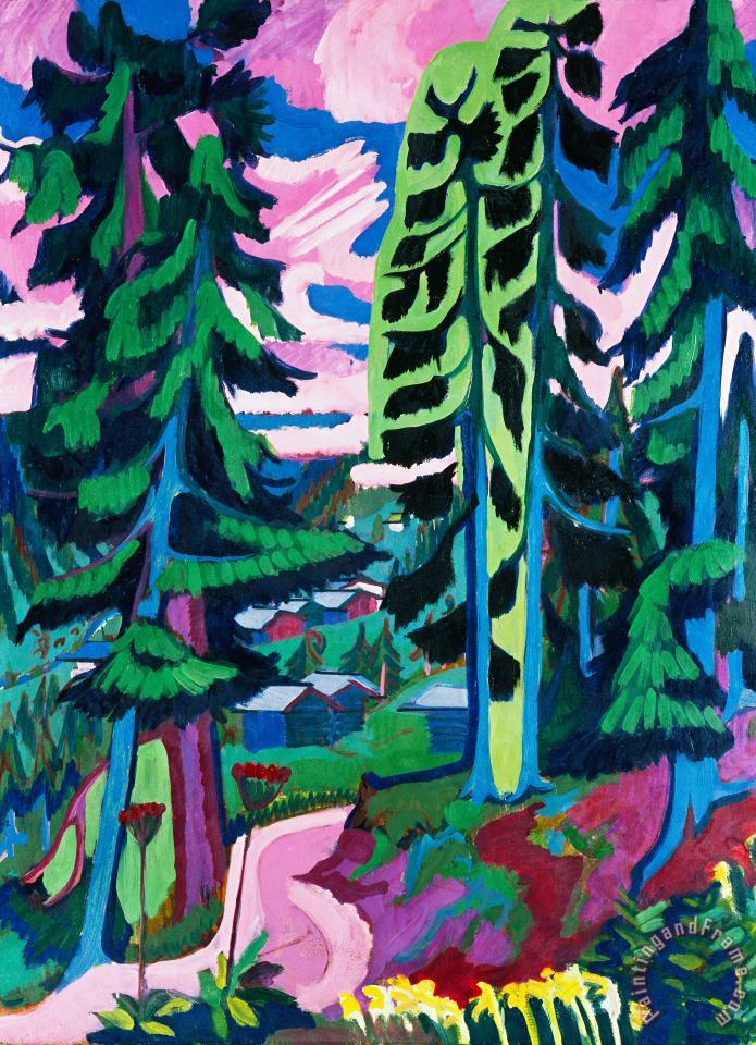 Forest Path In Summer painting - Ernst Ludwig Kirchner Forest Path In Summer Art Print