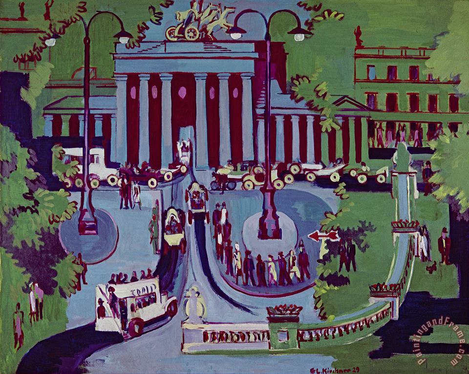 Ernst Ludwig Kirchner The Brandenburg Gate Berlin Art Print