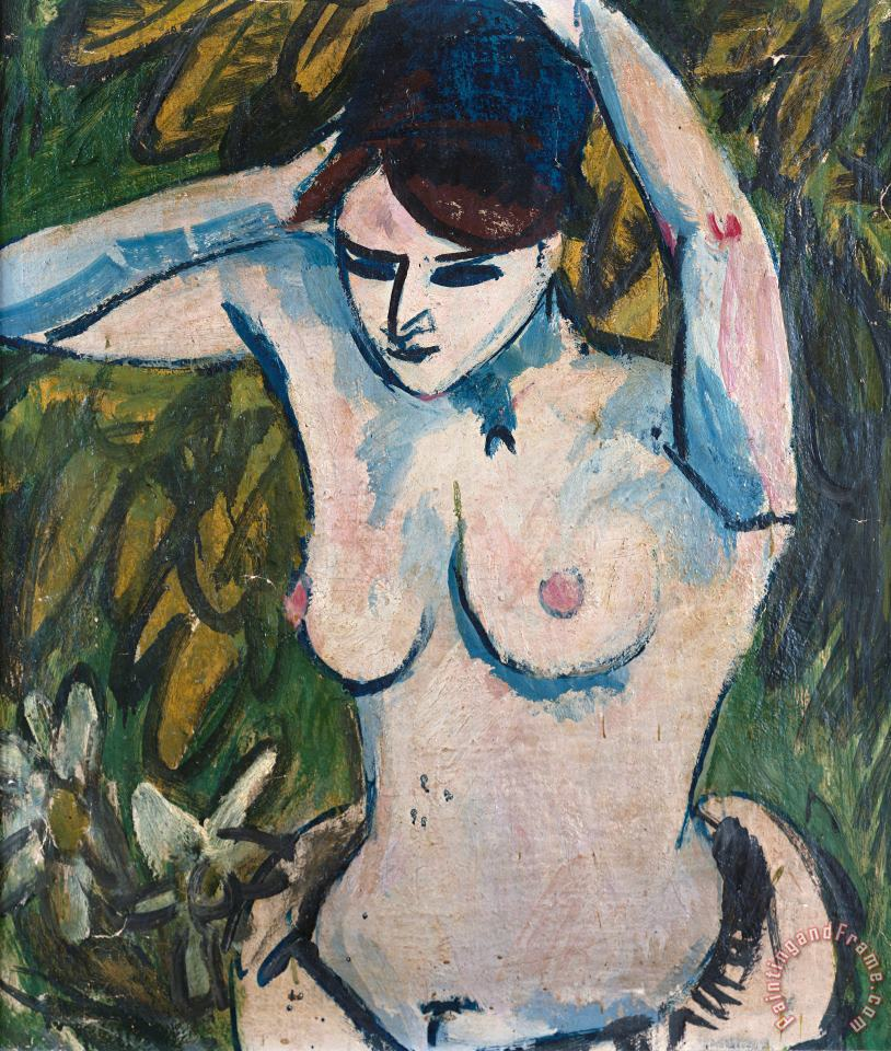 Woman With Raised Arms painting - Ernst Ludwig Kirchner Woman With Raised Arms Art Print
