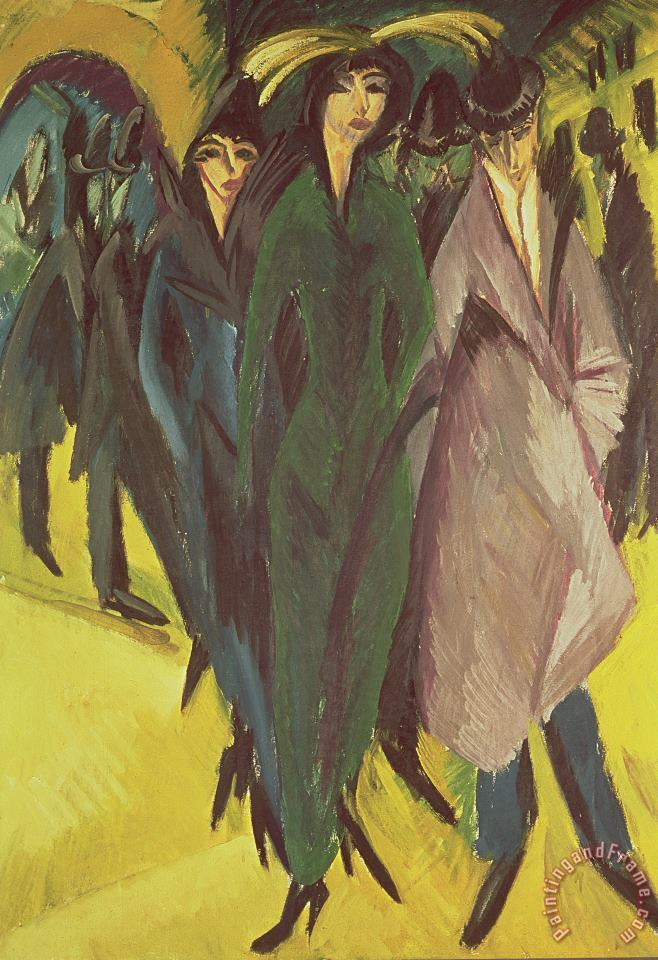 Ernst Ludwig Kirchner Women On The Street Art Painting