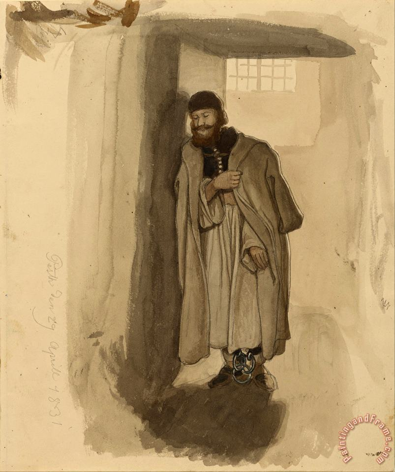 A Hungarian Prisoner painting - Eugen Napoleon Neureuther A Hungarian Prisoner Art Print