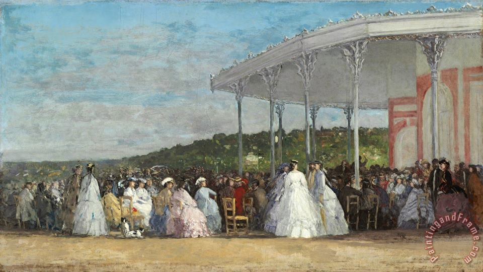 Concert at The Casino of Deauville painting - Eugene Boudin Concert at The Casino of Deauville Art Print